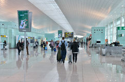 Airport of Barcelona Stock Images