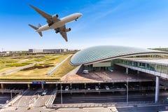 Airport in Beijing china Stock Photos