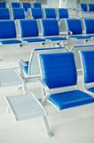 Airport bench Stock Image