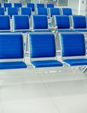 Airport bench Stock Images
