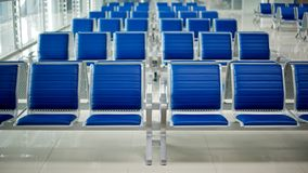 Airport bench Stock Photography