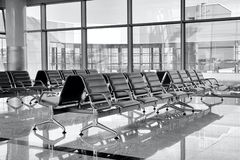 Airport bench Royalty Free Stock Image