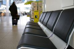 Airport bench Royalty Free Stock Photography