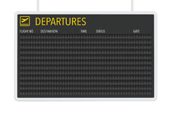 Airport Blank Departures Table Royalty Free Stock Images
