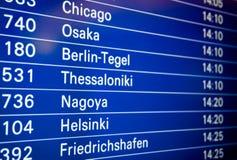 Airport board Stock Photo