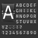 Airport Board Alphabet Stock Image