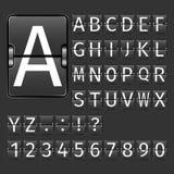 Airport Board Alphabet Stock Image