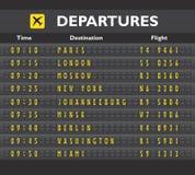 Airport board print Royalty Free Stock Photo
