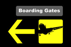 Airport boarding Stock Photography