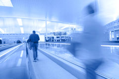 Airport boarding area uni-color Stock Photography