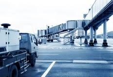 Airport boarding bridge Royalty Free Stock Photography