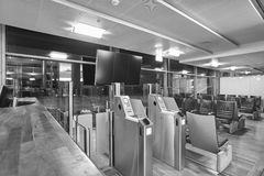 Airport boarding pass control area. Travel and tourism backgroun Royalty Free Stock Photo