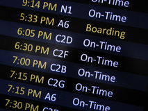 Airport Boarding signage Stock Photography
