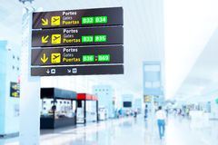 Airport boards Royalty Free Stock Photography