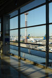Airport Boryspil , Kiev, Ukraine Stock Photos