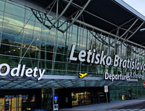 Airport in Bratislava stock images