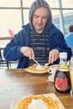 Airport breakfast Stock Photography