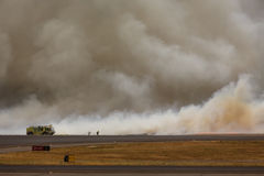 Airport Brush Fire in El Salvadore, Central America Stock Photography