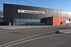 Airport building at Longyearbyen (Svalbard) Stock Photos