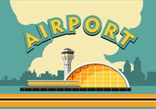 Airport building vector illustration Stock Images