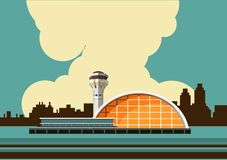 Airport building vector illustration Royalty Free Stock Photography