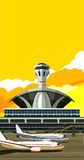 Airport building vector illustration Stock Photography