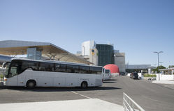 Airport bus at Lisbon International Portugal Stock Images