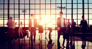 Airport Business Travel Walking Commuting Concept.  royalty free stock image