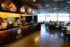 Airport cafe interior Royalty Free Stock Photo