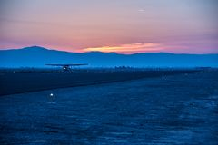 Airport at the California desert royalty free stock images