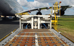 Airport cargo loader Stock Photography