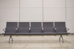 Airport_chairs. Empty chairs at an airport Stock Photos