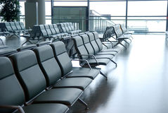 Airport chairs Royalty Free Stock Images