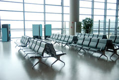 Airport chairs Stock Images