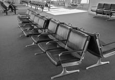 Airport  chairs BW Royalty Free Stock Images