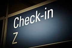 Airport check-in board Stock Images