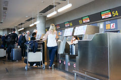 Airport Check-in Counter Royalty Free Stock Photo