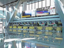 Airport Check-in Counters Stock Images