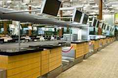 Airport Check In Counters Royalty Free Stock Image