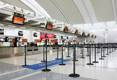 Airport check-in counters Royalty Free Stock Photography