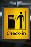 Airport Check in information Stock Photography