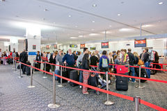 Airport check-in process Stock Photo