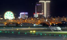 Airport and city Stock Image