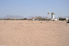 The airport in the city of Berbera Royalty Free Stock Image