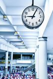 Airport clock Royalty Free Stock Photography