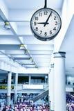Airport clock. Big clock at the airport Royalty Free Stock Photography