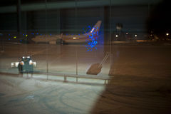 Airport closed, flights cancelled Royalty Free Stock Image