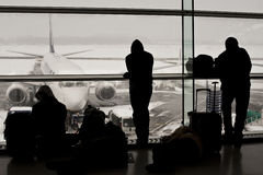 Airport closed, flights cancelled Stock Images