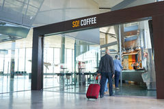 Airport Coffee Shop Stock Photo