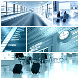 Airport collage Royalty Free Stock Images